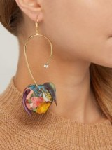 MARNI Floral-print flower drop earrings ~ floral inspired jewellery