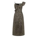 WAREHOUSE FOIL STAR JACQUARD WRAP DRESS | metallic party dresses