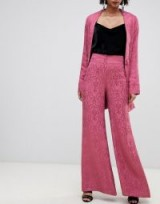 For Love & Lemons Lara wide leg trousers in paisley in dusty rose – pink patterned pants