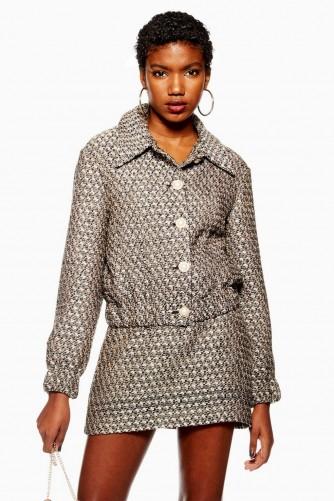 TOPSHOP Gem Boucle Jacket – modern tweed fashion
