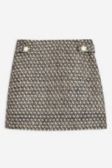 TOPSHOP Gem Boucle Skirt – tweed mini