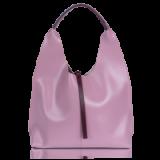 Inyati GRACE SHOPPER in ROSE/BURGUNDY | pink vegan leather hobo