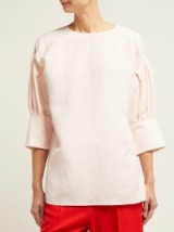 JIL SANDER Gyre dropped puff-sleeve blouse in pink