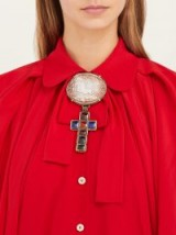 GUCCI Horse and cross cameo brooch ~ statement brooches