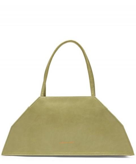 PALOMA WOOL Isabelle Shiny Leather Trapezoid-Shaped Pocket Bag | chic handbags