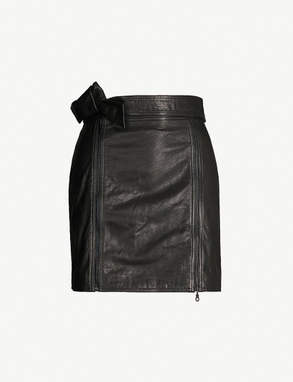 J BRAND FASHION Christa black leather mini skirt