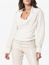 Jacquemus White Fitted Wrap Blouse