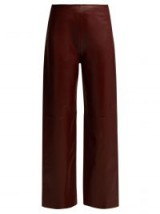 JACQUEMUS Jalad burgundy leather trousers