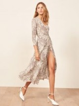 Reformation Jaz Dress in Python ~ feminine wrap style clothing