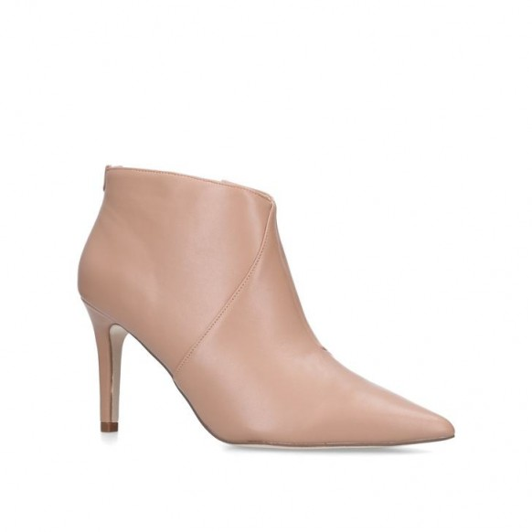 MISS KG JILES Pointed Toe Boot in nude – luxe style bootie