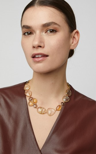 Bahina 18K Gold Quartz Necklace ~ luxe jewellery