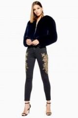 Topshop Lace Cut Out Jamie Jeans | glamorous skinnies