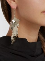 VALENTINO Leaf drop earrings ~ gold-tone statement jewellery