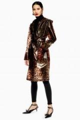 Topshop Leopard Print Mac in Brown   semi transparent rain coats
