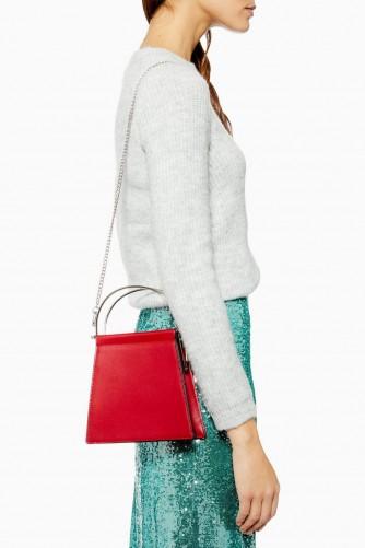 Topshop Lola Frame Mini Grab Bag in Red | small top handle bags