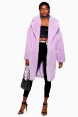 TOPSHOP Lilac Luxe Faux Fur Coat