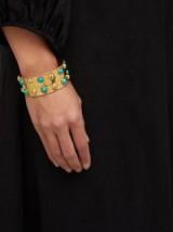 SYLVIA TOLEDANO Massai Dots turquoise stone cuff