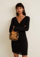MANGO Metallic thread dress – BEROFIES | wrap style LBD