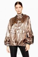 Ivy Park Metallic Zip Jacket in Bronze