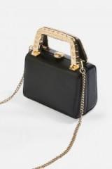 Topshop Mia Met Handle Mini Bag in Black | small glamorous box bags