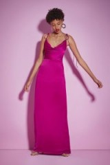 Nasty Gal Studio A Night to Remember Pink Satin Dress   long party dresses