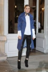Olivia Palermo is stylish in a denim coat