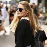 Olivia Palermo's chic half up half down hair