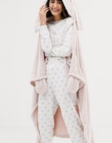 Oysho rabbit dressing gown in pink – sweet Xmas gift