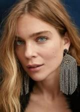 MANGO Pendant crystals earrings – RABAT | party statement