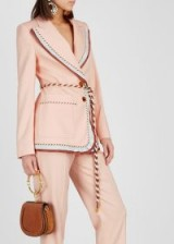 PETER PILOTTO Pink contrast-trimmed blazer – style statement jacket
