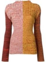 PRINGLE OF SCOTLAND high neck ribbed colour block jumper