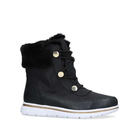 CARVELA COMFORT RANDY faux fur trimmed boot in black – waterproof winter bootie