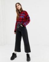 Reclaimed Vintage The '93 wide leg jeans in washed black   cropped hem