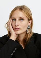MANGO Rhinestone crystal earrings in Silver | glam party accessory