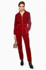Topshop Rust Corduroy Boilersuit | retro cord boiler suit