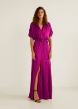 MANGO Satin gown – MILA2 | long slinky party dresses