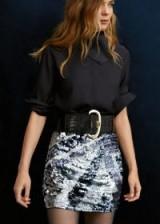 MANGO Sequin miniskirt – BIYONSE | metallic mini | party fashion