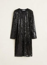 MANGO Black Sequined dress – LENTE | sparkling shift