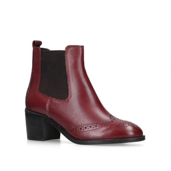 CARVELA SHAKE ankle boot in wine – dark-red block heel chelsea boots