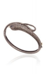Sanjay Kasliwal Silver, Diamond And Sapphire Snake Bracelet / shimmering diamonds