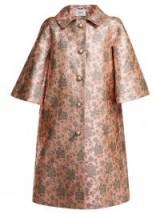 ERDEM Sorayah floral-jacquard pink coat / luxury statement coats