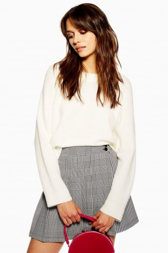Topshop Super Soft Raglan Jumper in Ivory | effortless luxe