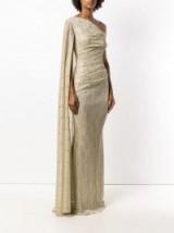 TALBOT RUNHOF metallic-gold draped gown ~ glamorous event dresses