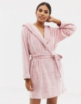 B By Ted Baker Pink Embossed Dressing Gown