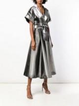 TEMPERLEY LONDON Liquid Metal jumpsuit in silver