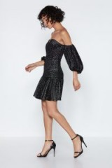 NASTY GAL That's the Way Mini Dress in Black – off shoulder party dresses