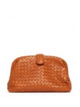 BOTTEGA VENETA The Lauren 1980 orange leather clutch