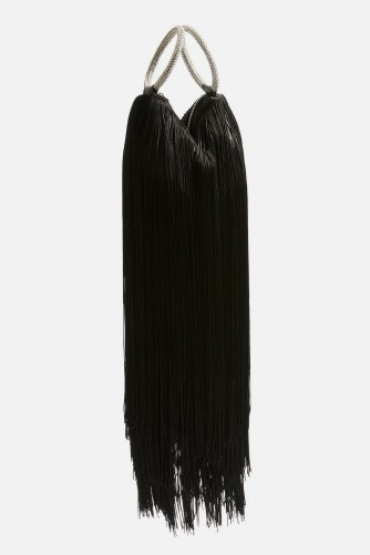 TOPSHOP Tiffany Tassel Clutch Bag / fringed ring handle bags