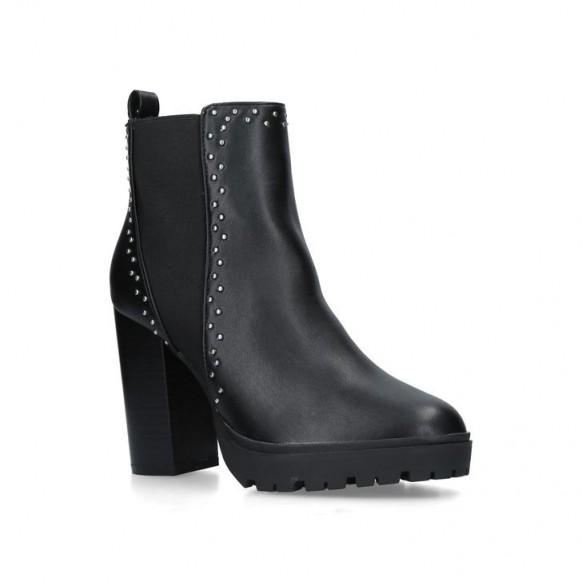 KG KURT GEIGER TRINITY 2 STUDDED ANKLE BOOT in black
