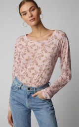Yvonne S Under Printed Cotton Tee in Floral